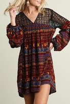 Umgee USA Burgundy Mix Dress