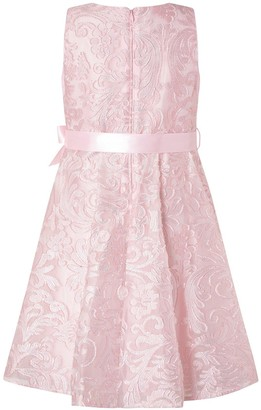 Monsoon Girls Cordelia Glitter Jacquard Dress - Pink