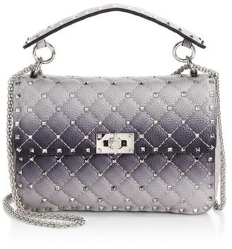 Valentino Medium Rockstud Spike Ombre Leather Shoulder Bag