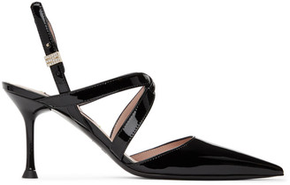 MSGM Black Patent Strappy Heels