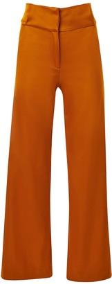 Hilary Macmillan Cognac High Waisted Pants
