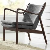 Baxton Studio Shakespeare Mid-Century Gray Fabric Upholstered Accent Chair