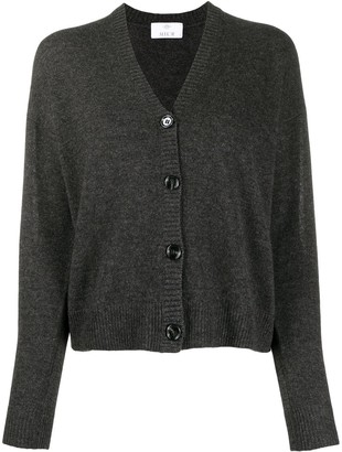Allude Ribbed Edge Cashmere Cardigan