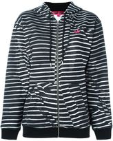 McQ by Alexander McQueen 'Swallow' striped hoodie - women - Cotton - XXS