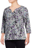 Karen Scott Plus Jasper Fleur Three-Quarter Henley