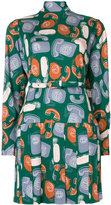 Miu Miu Phone print skater dress