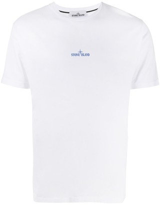 Stone Island logo-print crew neck T-Shirt
