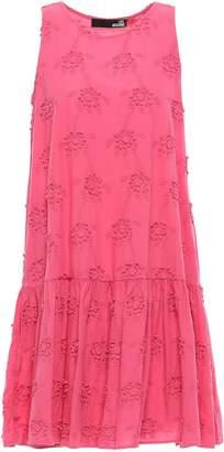 Love Moschino Floral-appliqued Cotton Mini Dress