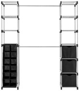 Whitmor Deluxe Double Rod Closet Organizer - Black