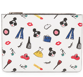 Alice + Olivia Stacey Print Medium Zip Pouch