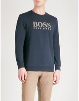 BOSS Logo-print jersey sweatshirt