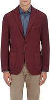 Barneys New York Men's Wool-Silk Two-Button Sportcoat-BURGUNDY