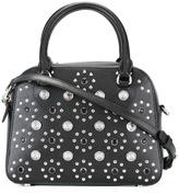 Versus flower studded tote - women - Cotton/Calf Leather/Metal (Other) - One Size