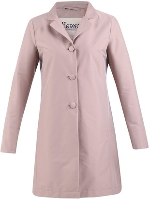 Herno Single-Breasted Buttoned Raincoat