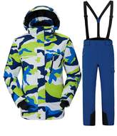 Vector Waterproof Windproof Colorful Printed Insulated Snow Suit Ski Jacket and Pants Set Snowboard Jack Ski Suit Men