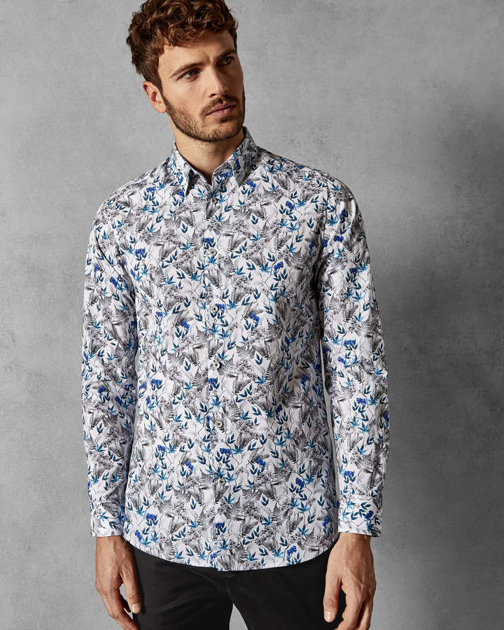 Ted Baker THEFERN Floral cotton shirt