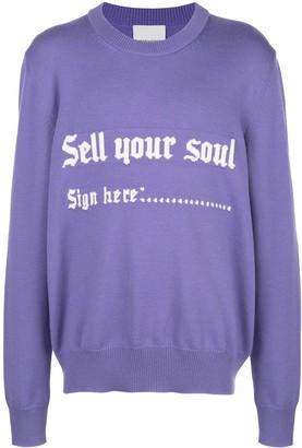 Nasaseasons Sell Your Soul intarsia jumper
