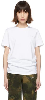 Off-White Off White White Unfinished Slim T-Shirt