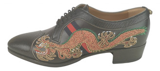 Gucci Black Leather Lace ups