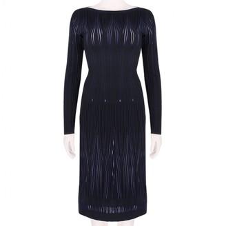 Alaia Blue Wool Dress for Women