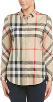 Burberry Stretch Cotton Check Shirt
