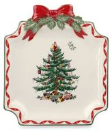 Spode Christmas Tree Ribbons Canapé Plate