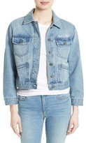 Joie Women's Runa Embroidered Denim Jacket