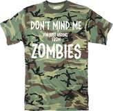 Crazy Dog T-shirts Crazy Dog Thirt Men Jut Hiding From Zombie Funny Full uflage Print Thirt