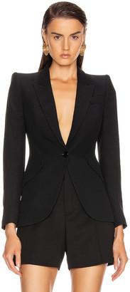 Alexander McQueen Tailored Jacket in Black | FWRD