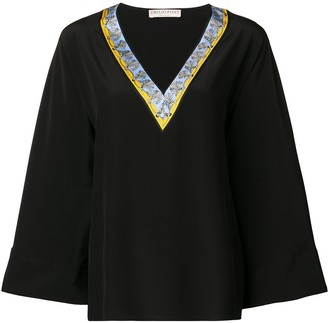 Emilio Pucci Black Kimono Sleeve Tunic