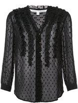 Veronica Beard ruffled V-neck blouse - women - Silk/Viscose - 2