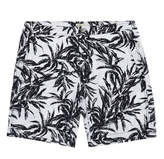 Onia Calder Monochrome Palm Print Swim Shorts