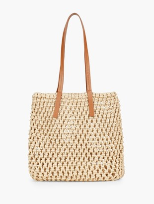 Talbots Cotton Crochet Tote