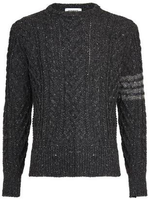 Thom Browne Aran Cable 4-Bar sweater