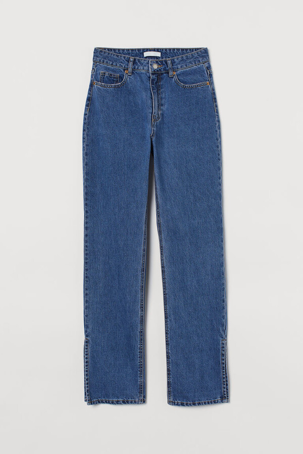 Thumbnail for your product : H&M Straight High Split Jeans