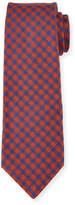 Kiton Woven Check Silk Tie