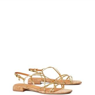 Tory Burch Penelope Metallic Flat Sandal