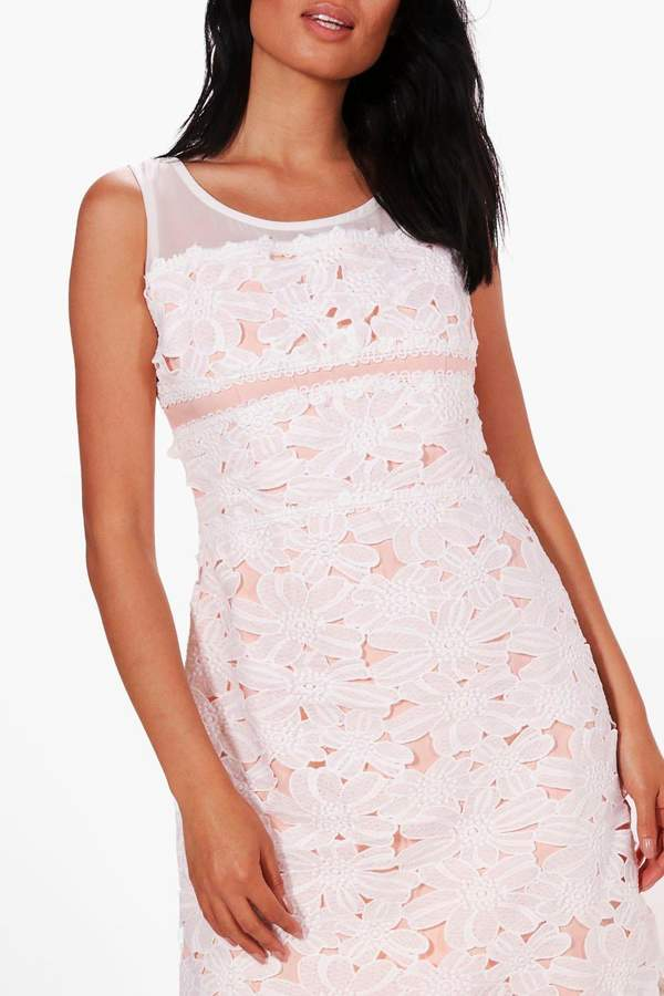 boohoo Boutique Aly Lace Contrast Bodycon Dress