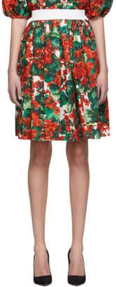 Dolce & Gabbana Red Geranium Miniskirt