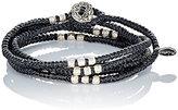 M. Cohen Men's Knotted Wrap Bracelet-BLACK