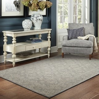 StyleHaven Maison Soothing Traditions Loop Pile Hand-made Wool Pile Area Rug