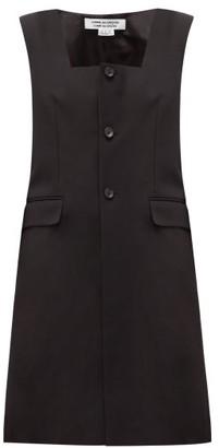 Comme des Garcons Square-neck Wool-blend Twill Jacket - Womens - Black