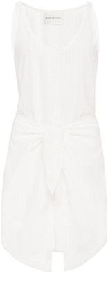 Anémone Dk Tie-Front Cotton Linen-Blend Mini Dress