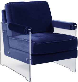 Chic Home Logan Navy Accent Chair