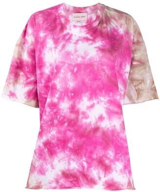 Natasha Zinko oversized tie-dye print T-shirt