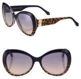 Roberto Cavalli 56MM Leopard-Print Butterfly Sunglasses