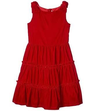 Janie and Jack Tiered Velvet Dress (Little Kids/Big Kids)