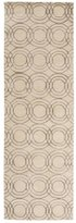 Diva At Home 2.5' x 8' Orbicular Impressions Linen and Iron Gray Hand Tufted Area Throw Rug Runner