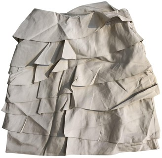 Ralph Lauren Beige Silk Skirt for Women