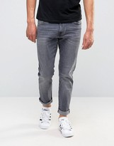 Esprit Slim Fit Jeans In Washed Grey Denim